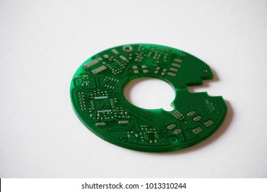Printed circuit board (PCB) on white background