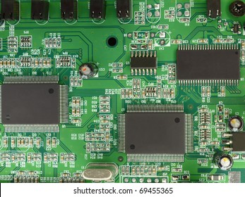Printed circuit board shot from above