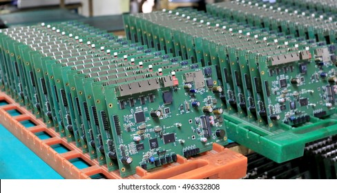 The Printed Circuit boards on the shell at the fabric