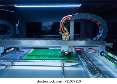 printed circuit boards production factory. Technological process. Assembling the board.