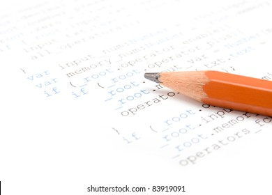 Printed computer programme and pencil