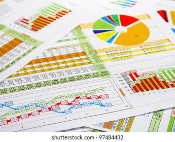 Printed Report in Charts, Graphs and Diagrams