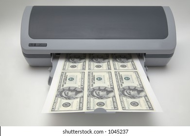 Printer with 1000000 dollar bills