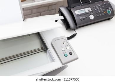 Printer and fax machine, office equipment