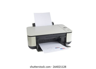 printer isolated on a white background