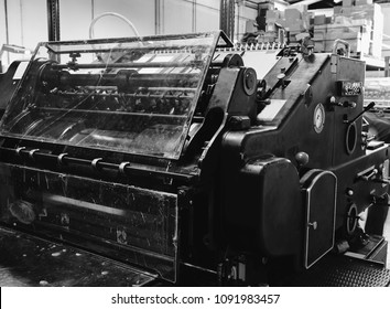 Printer lithography cylinder machine in a printing factory