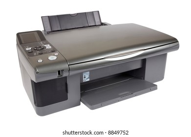 Printer on isolated white background.