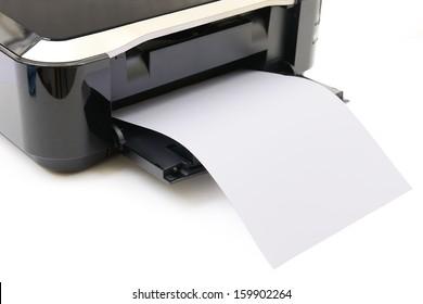 Imágenes, fotos de stock y vectores sobre Papers On Printer