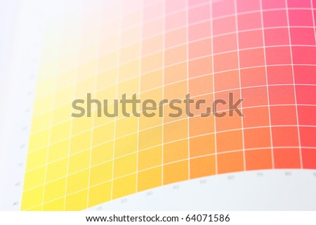 Printers Color Chart Closeup Stock Photo Edit Now 64071586