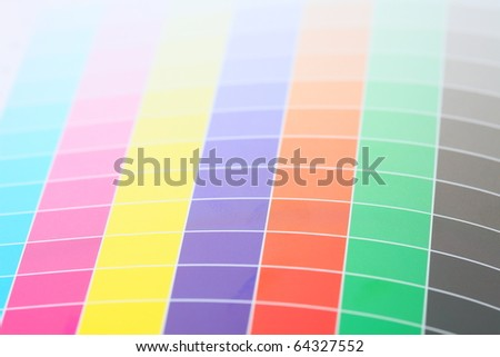 Printers Color Chart Closeup Stock Photo Edit Now 64327552