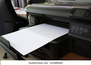 Printers with printouts of white paper