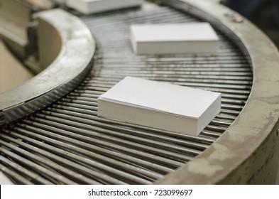 Printing house. Conveyor. Printing of books