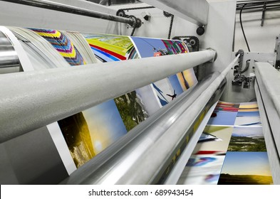 Printing machine fast roll movement during magazine print