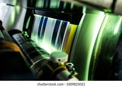 printing production, printing machine in the factory