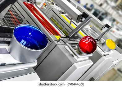Printing solutions: offset printer 4 colors print units with color pots