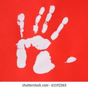 printout human hand unique detail stock illustration 29158411