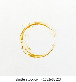 prints coffee stains on white background