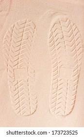 prints sandals dry fine sand