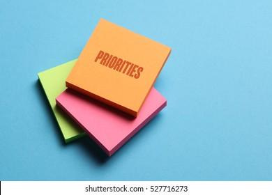 Priorities, Business Concept