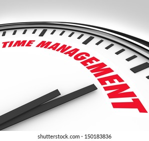 Prioritizing your hours and minutes by scheduling important moments and events with clock marked Time Management