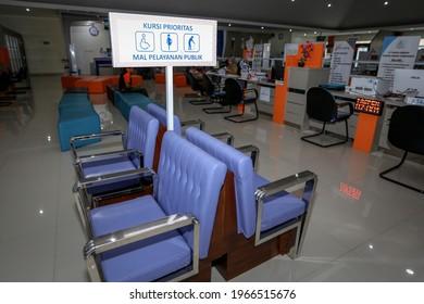 Priority Seat at the Public Service Mall of Banyumas Regency ( Mal Pelayanan Publik Kabupaten Banyumas ), Purwokerto, August 26, 2019.