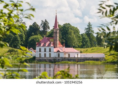 Priory Palace in the summer, Gatchina. Leningrad Oblast, Russia