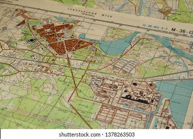 Pripyat Chernobyl russian ussr military map 1986 1:25000