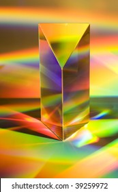 Prism with abstract rainbow efffects.  Vertical format