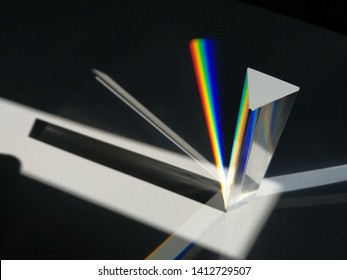 Prism of Newton for decomposition of colors