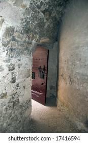 Prison door at chateau d if prison