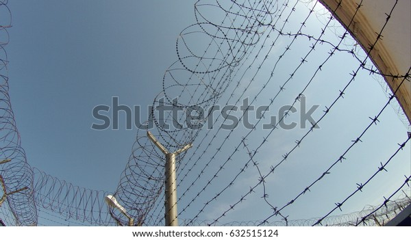 Prison. Typical landscape of the prison.
