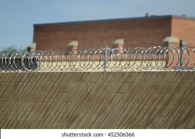 Prison Walls and Barbed Wire Protection
