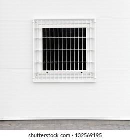 The prison window.