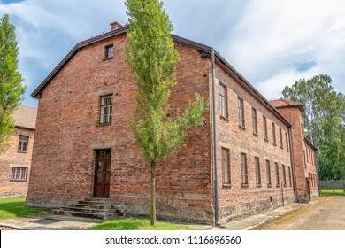 Prisoner's barrack in Auschwitz 1. Nazi concentration camp, Auschwitz, Poland