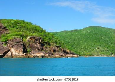 Pristine coastline near Port Douglas, Queensland - Australia