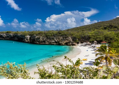 The pristine Grote Knip beach on the tropical Caribbean Island of Curacao