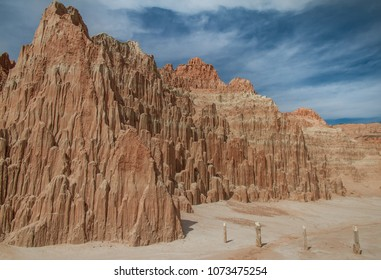 Pristine landscape view of Cathedral Gorge State Park in Nevada, USA.