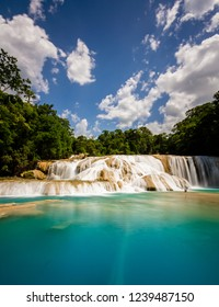 Pristine waters of Agua Azul, Chiapas, Mexico