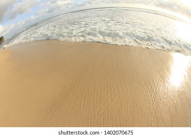 Pristine white beach in Drini Gunung Kidul Jogjakarta region
