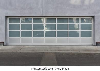 Privacy Glass Garage Door