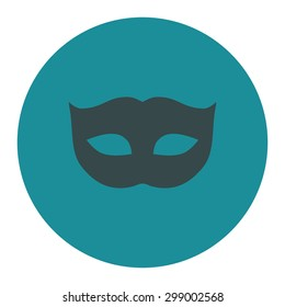 Privacy Mask icon from Primitive Round Buttons OverColor Set. This round flat button is drawn with soft blue colors on a white background.