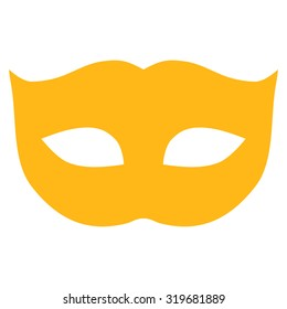 Privacy Mask icon from Primitive Set. This isolated flat symbol is drawn with yellow color on a white background, angles are rounded.