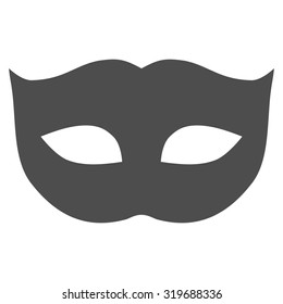 Privacy Mask icon from Primitive Set. This isolated flat symbol is drawn with gray color on a white background, angles are rounded.