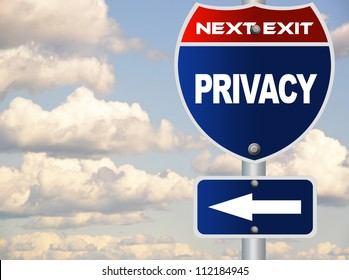 Privacy road sign