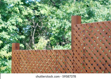 Privacy wooden screen or fence