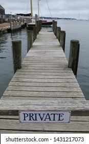 Private Dock with Warning Sign