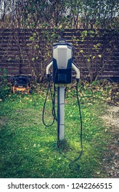 Private electric car charging station