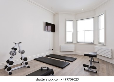private gym in the spare room