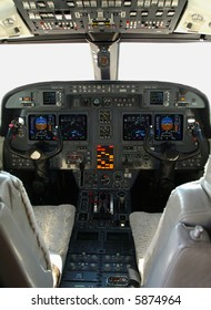 Private jet, Gulfstream,  instrument panel and controls