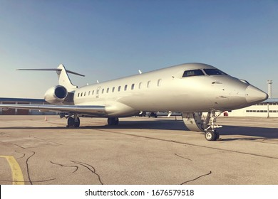 Private jet ready for boarding and take off